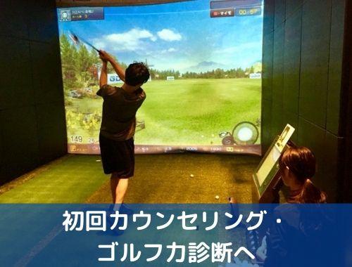 初回カウンセリング・ゴルフ力診断へ