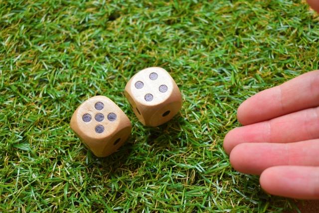 ゴルフボール2個投げ練習